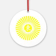 New Sun Yellow Round Ornament