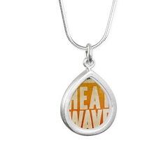 castle-heat-wave Silver Teardrop Necklace