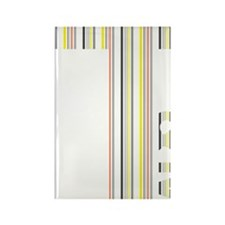 T Logo - Colour Stripes Rectangle Magnet