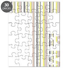T Logo - Colour Stripes Puzzle