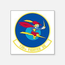 """138th_fighter_squadron Square Sticker 3"""" x 3"""""""
