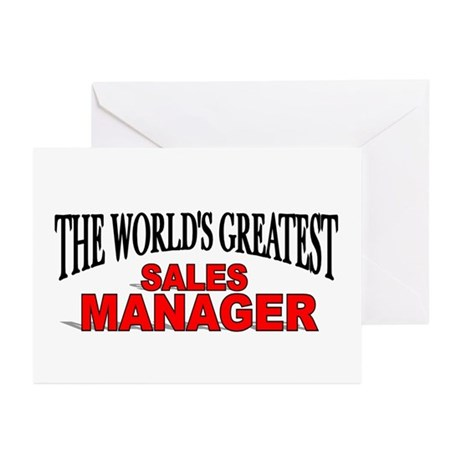 """""""The World's Greatest Sales Manager"""" Greeting Card"""