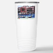 venice flaged sticker Stainless Steel Travel Mug