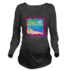 Sanibel-Island-Color Long Sleeve Maternity T-Shirt
