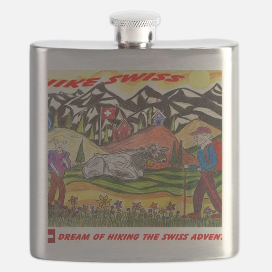 hike swiss small poster Flask