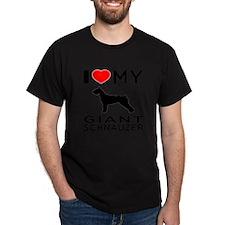 I Love My Giant Schnauzer T-Shirt