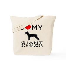 I Love My Giant Schnauzer Tote Bag