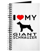 I Love My Giant Schnauzer Journal