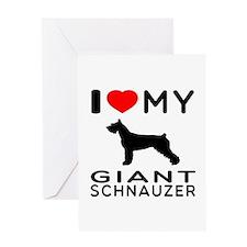 I Love My Giant Schnauzer Greeting Card