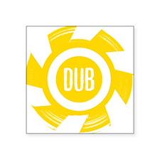 """Dub_Gold Square Sticker 3"""" x 3"""""""