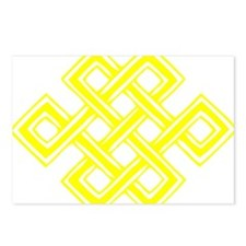 Endless_Knot_Yellow Postcards (Package of 8)
