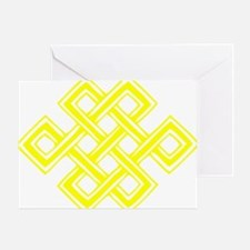 Endless_Knot_Yellow Greeting Card