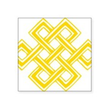 """Endless_Knot_Gold Square Sticker 3"""" x 3"""""""