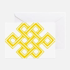 Endless_Knot_Gold Greeting Card