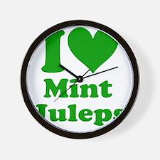 2-I Heart Mint Jullips Wall Clock