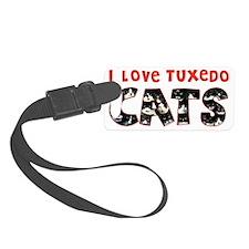 I Love Tuxedo Cats Luggage Tag