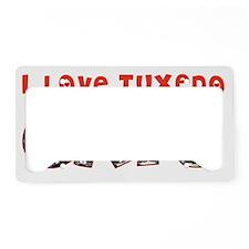I Love Tuxedo Cats License Plate Holder
