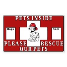 Pets Inside-Pet Alert Decal