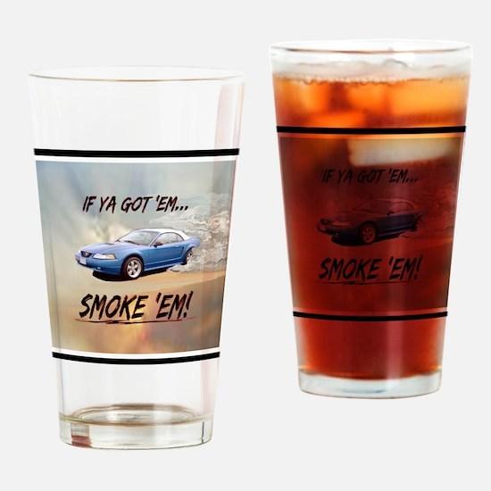 Wandas Mustang(15.35 x15.35) Clock Drinking Glass