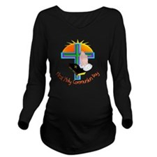 First Holy Com Day Long Sleeve Maternity T-Shirt