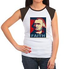 ART Faith small poster Women's Cap Sleeve T-Shirt