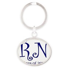 RN-navy Oval Keychain