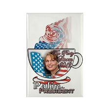 Sarah Palin Tea Party 2012 cup 00 Rectangle Magnet