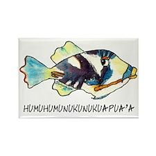 050HumuNukuNameFish-R Rectangle Magnet