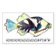050HumuNukuNameFish-R Bumper Stickers