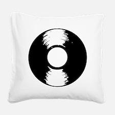 Vinyl Square Canvas Pillow