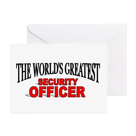 """""""The World's Greatest Security Officer"""" Greeting C"""
