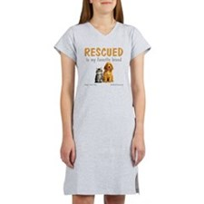 rescued_is_my_favorite_breed_3- Women's Nightshirt