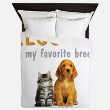 rescued_is_my_favorite_breed_3-trans Queen Duvet