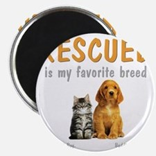 rescued_is_my_favorite_breed_3-trans Magnet
