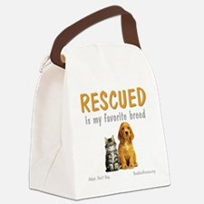 rescued_is_my_favorite_breed_3-tr Canvas Lunch Bag