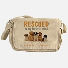 rescued_is_my_favorite_breed_4-trans Messenger Bag