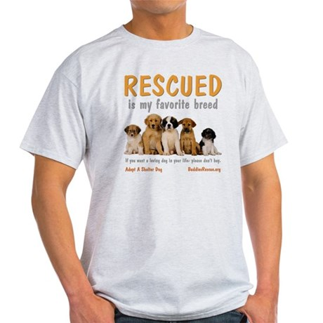 rescued_is_my_favorite_breed_4-trans Light T-Shirt