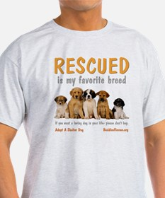 rescued_is_my_favorite_breed_4-trans T-Shirt
