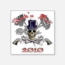 "Rockn Roll 2010 Square Sticker 3"" x 3"""