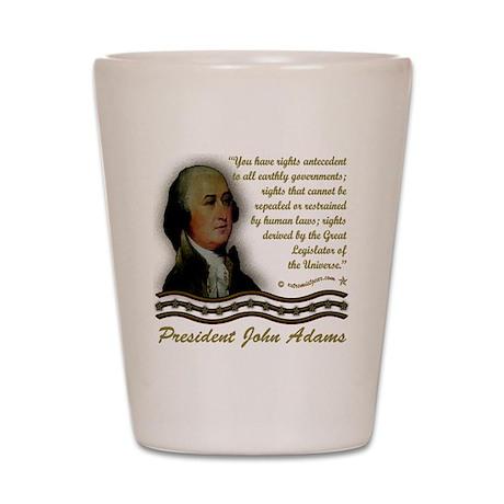 2-John Adams design on black Shot Glass