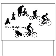 Thru the Ages Cycling Design Yard Sign