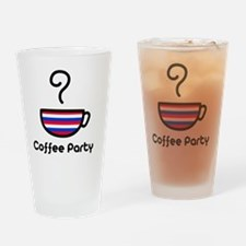 Coffee Party Drinking Glass