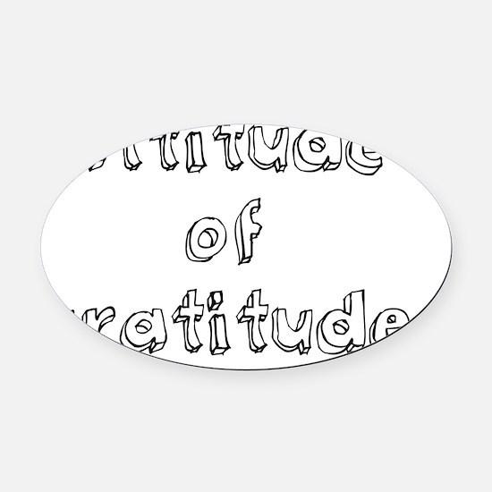 attitude Oval Car Magnet