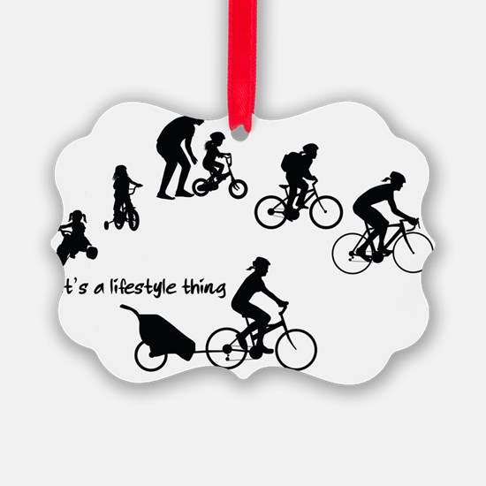 Thru the Ages Cycling design from Ornament