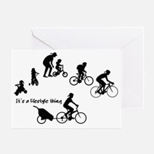 Thru the Ages Cycling design from Ev Greeting Card