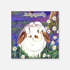 """horatio_sympathynotecards Square Sticker 3"""" x 3"""""""
