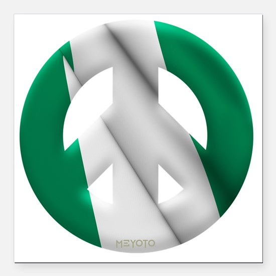 "Nigeria Square Car Magnet 3"" x 3"""