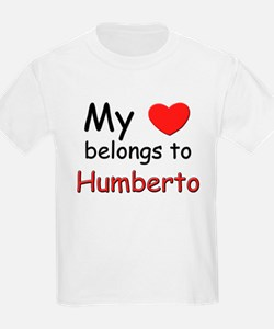 My heart belongs to humberto Kids T-Shirt