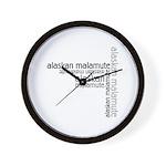 Alaskan Malamute Multi Wall Clock