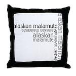 Alaskan Malamute Multi Throw Pillow
